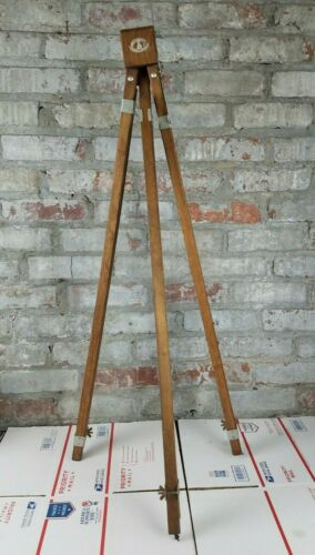 "Vintage Anco Bilt Adjustable Easel 62"" Wooden Artist Painters Tripod MCM US Made"