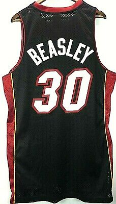 Adidas Michael Beasley #30 Miami Heat NBA Basketball Swingman Sewn Jersey Sz L