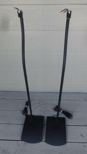 Pair of Bose UFS-20 Speaker Stands For Acoustimass Redline Jewel or 3-2-1 Black
