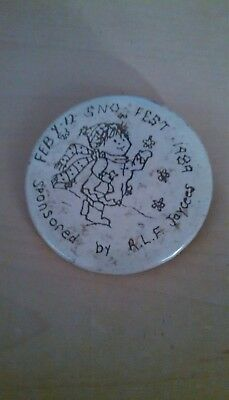 Vintage Collectible ButtonPinBack Jaycees SnoFest RedLakeFalls MN 1989