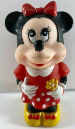 1986 Vintage Walt Disney Company Tootsietoy Minnie Doll Rubber Plastic Toy