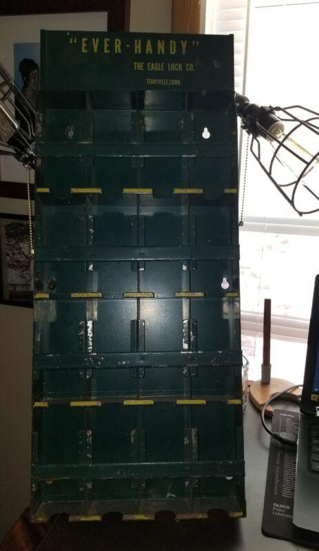 "Vintage 1940s ""Ever Handy"" Eagle Lock TERRYVILLE OHIO STORE DISPLAY PIECE"