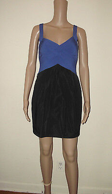 BCBG MAX AZRIA Size 0 Blue/black Pockets  Dress