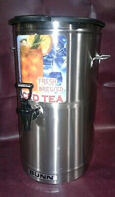 Bunn Tdo-4 Stainless Steel Commercial Iced Tea Dispenser 4 Gal. Wbrew Thru Lid.