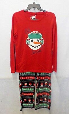 Womens XXL Jammies For Your Families Red/Green Christmas PJ Set Nwt #10907 ()