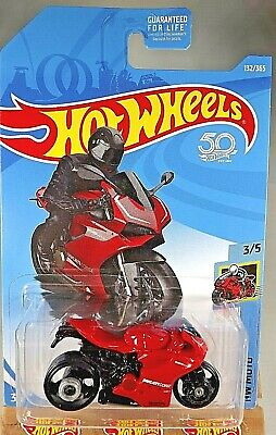 2018 Hot Wheels #132 HW Moto 3/5 DUCATI 1199 PANIGALE Red w/Black MC3 Spoke Whls