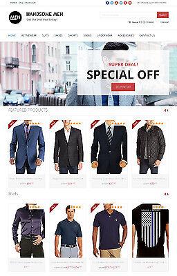 Mens Clothing Store - Custom Amazon Affiliate Website Ecommerce