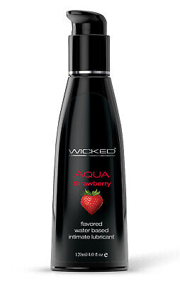 Wicked Sensual Aqua Strawberry Water-Based Lubricant 4oz -Intimate Personal Lube