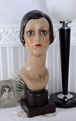 Frauenbüste Art Deco 30er Jahre Frauenkopf Schaufensterpuppe Büste Frauenfigur