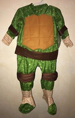 baby boys 2 PC TEENAGE NINJA TURTLE HALLOWEEN COSTUME W/SHELL 18/24 month CUTE! - Baby Ninja Turtle Halloween Costume