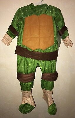 Baby Boy Turtle Halloween Costume (baby boys 2 PC TEENAGE NINJA TURTLE HALLOWEEN COSTUME W/SHELL 18/24 month)