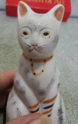Porcelain Cat Christmas Ornament Metropolitan Museum of Art Replica Handpainted