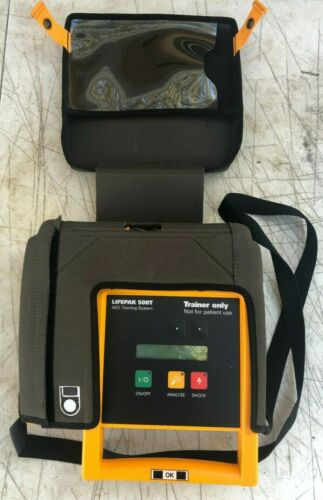 Medtronic Physio-Control Lifepak 500T AED Training System Remote + Carrying Case