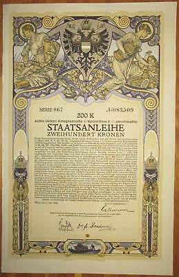 ÖSTERREICH AUSTRIA 8. Kriegsanleihe 200 Kronen 1918 Austrian War Loan