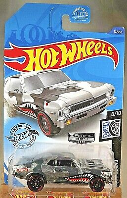 2020 Hot Wheels Walmart #4 Zamac #73 Rod Squad 6/10 '68 CHEVY NOVA Zamac wBlkSt8