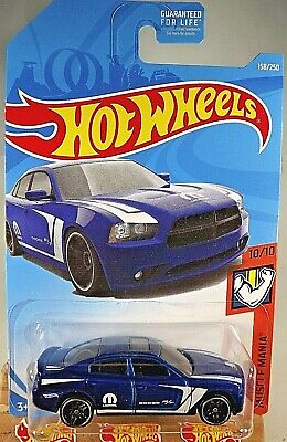 2019 Hot Wheels #158 Muscle Mania 10/10 '11 DODGE CHARGER R/T Blue w/Black Pr5Sp