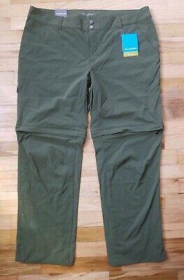 NWT Women's Columbia Saturday Trail ll Convertible Pants  18W Short Green  $75 Trail Convertible Pants
