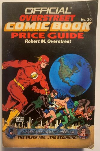 ROBERT M. OVERSTREET PRICE GUIDE #20 SOFTCOVER VERSION (1990) JUSTICE LEAGUE-c