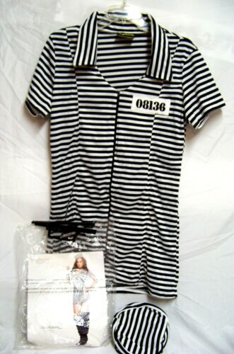 Underwraps Miss Behaved Prisioner Costume Sz XL SEXY Halloween Role Play