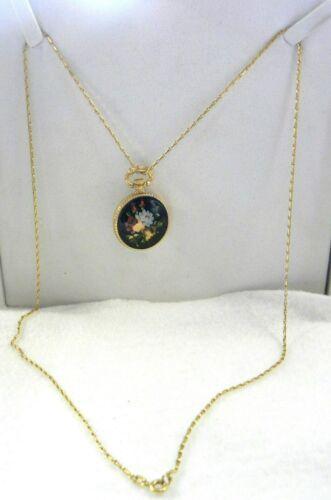 Necklace Watch Incabloc Gessner 17 Jewel