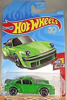 2018 Hot Wheels #338 Then and Now 2/10 PORSCHE 934 TURBO RSR Green w/Black MC5Sp](Hot Black Cop)
