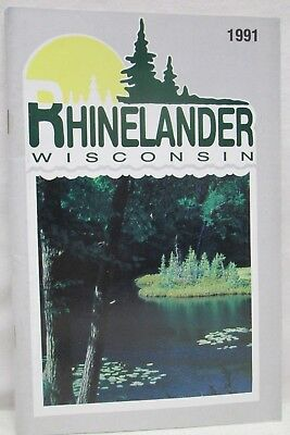 1991 Rhinelander Wisconsin Directory Accommodations Activity Map Booklet