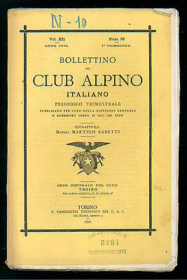 BOLLETTINO DEL CLUB ALPINO ITALIANO N. 33 VOL. XII 1° TRIMESTRE 1878 MONTAGNA