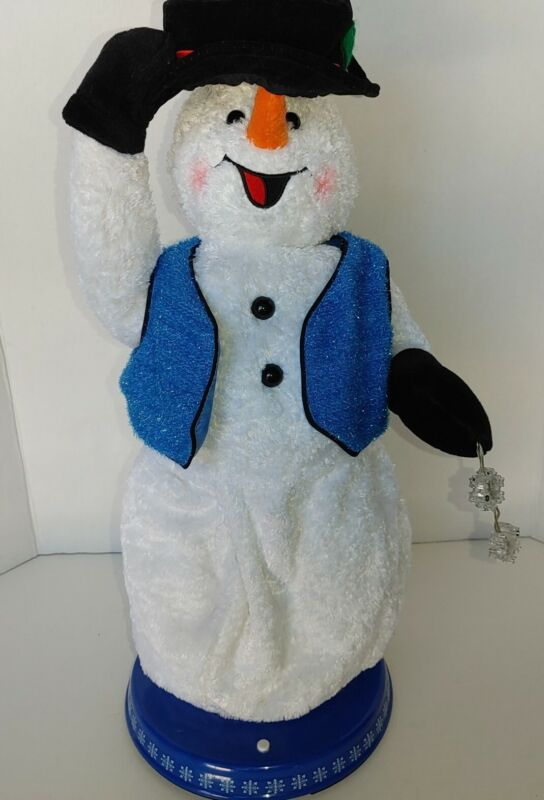 Gemmy Snowflake Spinning Snowman Animated Singing Dancing Snow Miser