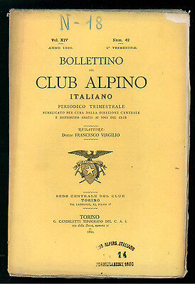 BOLLETTINO DEL CLUB ALPINO ITALIANO N. 42 VOL. XIV 2° TRIMESTRE 1880 MONTAGNA