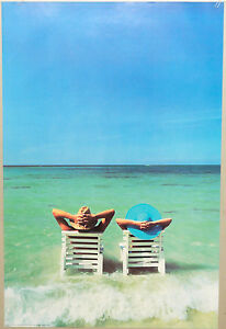 PRL-1989-MARE-SEA-MER-MAR-RELAX-VINTAGE-AFFICHE-PRINT-ART-POSTER-COLLECTION
