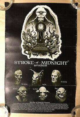 STROKE OF MIDNIGHT Studios MINI PROMO POSTER - Miles Teves Art - Latex Mask