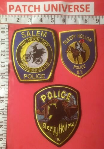 LOT OF THREE SPOOKY LAW ENFORCEMENT  PATCHES     S002