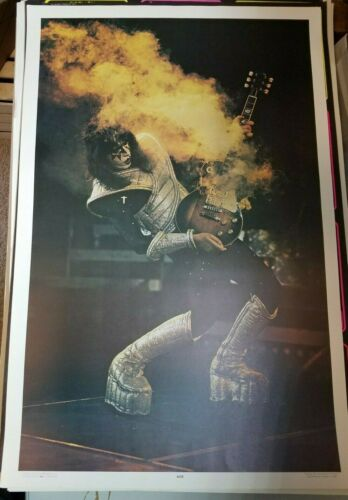 KISS VINTAGE 1977 77 ALIVE II ACE FREHLEY NOS AUCOIN MGT LIVE POSTER -NICE!