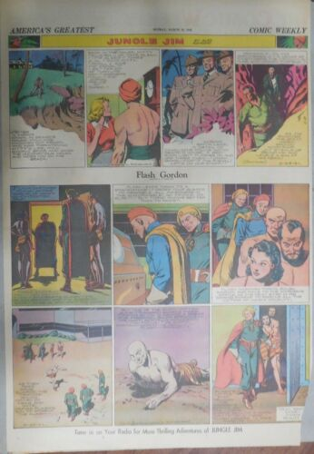 Flash Gordon Sunday by Alex Raymond from 3/23/1941 Large Full Page Size !