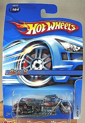 2006 Hot Wheels Collector #164 AIRY 8 Bike Flat Black Variant w/Drag Whl-MC5 Sp