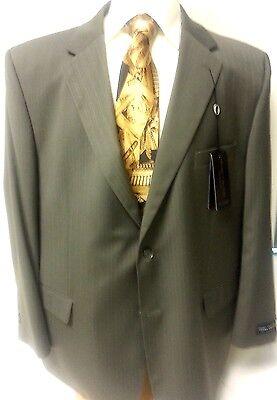 Big Men Suit New Henry Grethel Business Slack 2 PC Piece 54R Jacket Button Taupe
