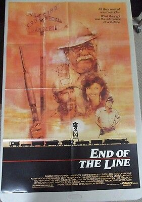 Vintage 1 sheet 27x41 Movie Poster End Of The Line 1987 Kevin Bacon Bob Balaban