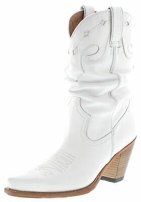 Weiße Leder Western Cowboy Stiefel (Mayura Boots 1952 Blanco Damen Cowboystiefel Westernstiefel Lederstiefel Weiss)