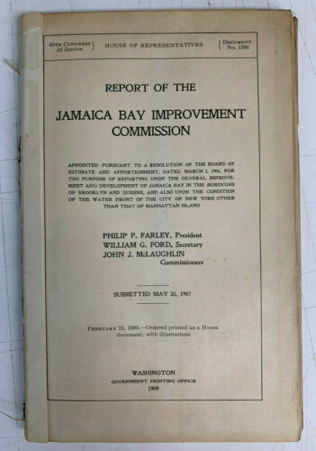 Report of the Jamaica Bay Improvement Commission, 1907