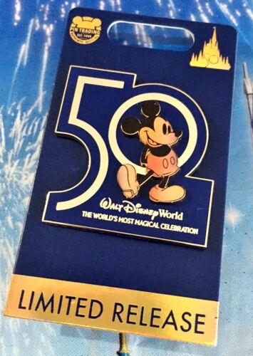 NWT Disney Parks Walt Disney World 50th Anniversary Mickey Limited Pin IN HAND!