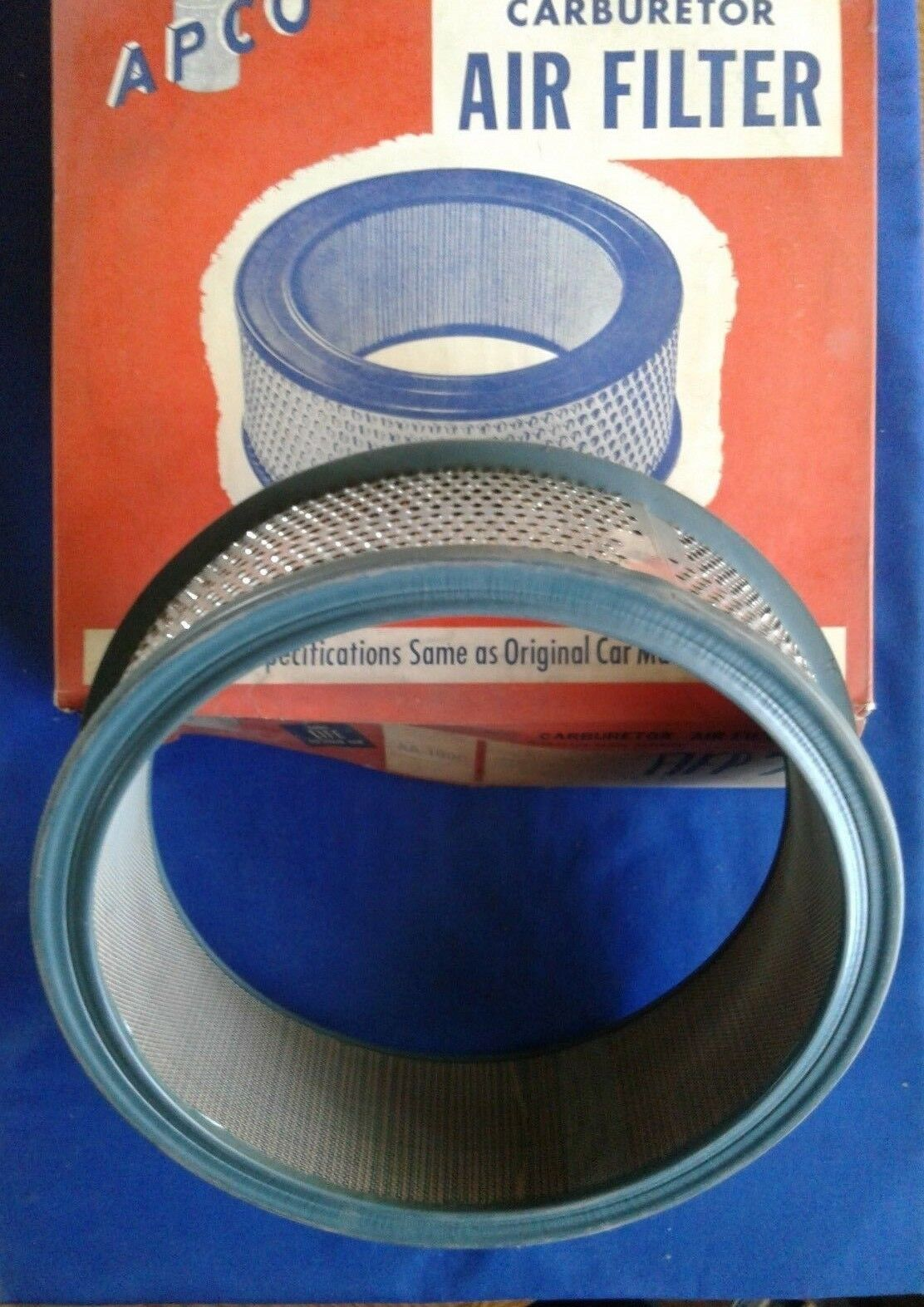 NORS APCO Air Filter # AA-180C, Fits Mercury Lincoln 1957 1958