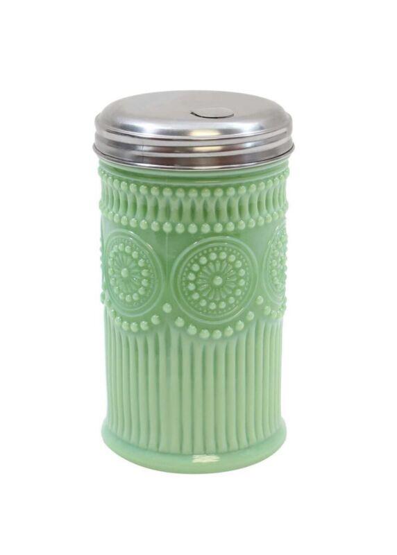 Vintage Jadite Jadeite Glass Sugar Shaker w/ Pour Spout