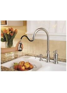 Brand New, Never used, Price Pfister 3piece S.S. kitchen faucet.