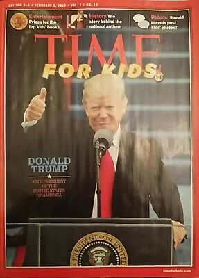 Flash》Time for Kids Magazine》Donald Trump 45th President of US》Feb 3, 2017