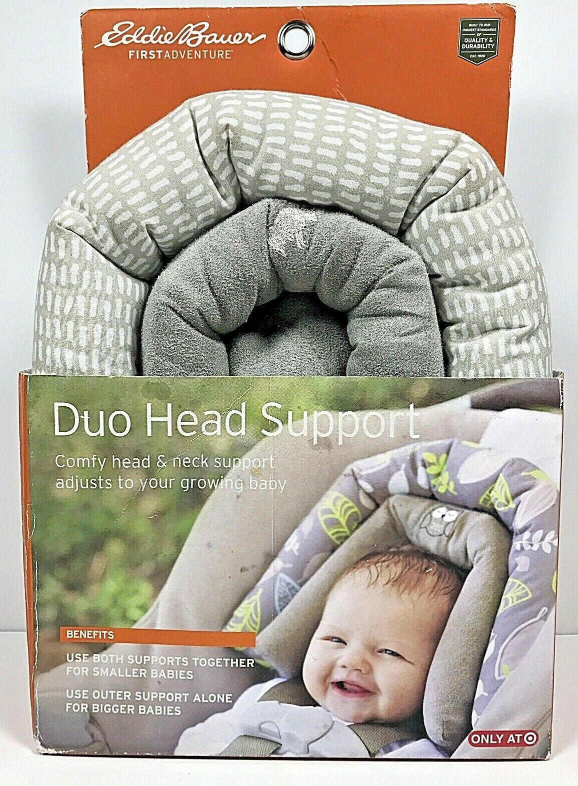 Eddie Bauer Baby 2-in-1 Head Support for Car Seats,