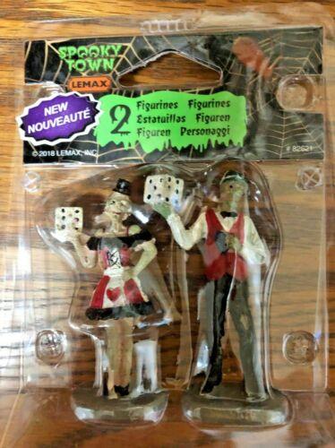 Halloween Lemax Spooky Town, Casino Figurine set of 2 - 2018 NEW 82621