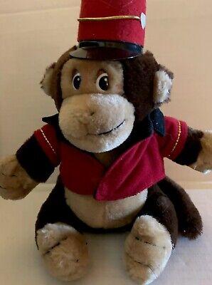 Dakin 1987 Vintage Monkey Plush With Red Bellhop Organ Grinder Hat Jacket - Organ Grinder Monkey Hat