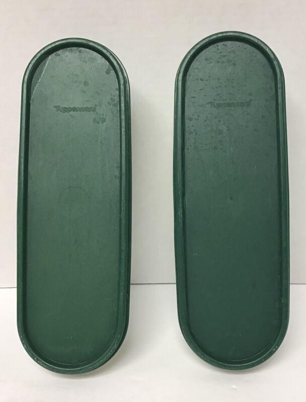 Tupperware Set of (2) Green Modular Mates