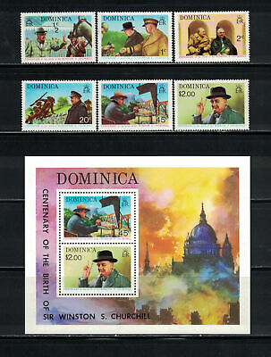 Dominica 1974: #405-410a Churchill Centenary NH:Lot#7/25