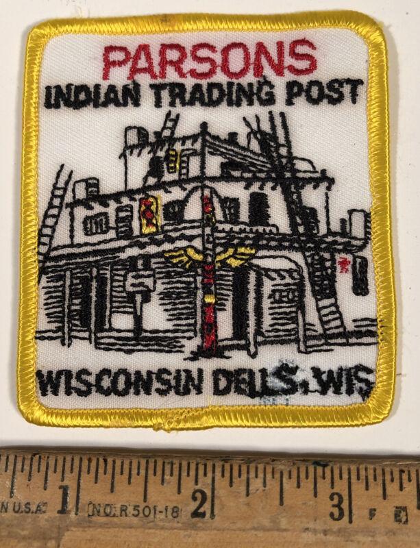 Vintage Wisconsin Dells Parsons Indian Trading Post Travel Souvenir Patch
